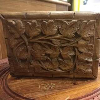 Wallnut Handcarved Jewelry Box