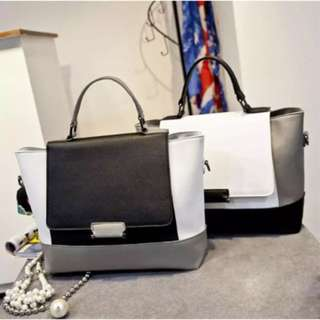 High Quality Real Leather 2 Coloured Bag