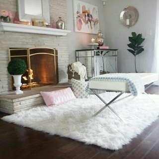 Karpet Bulu Korea Putih