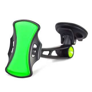 Grip Go Car Mobile Phone Holder (Black/Green)