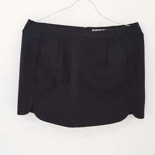 Stradivarius - Black Mini Skirt