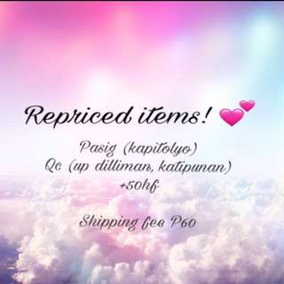 REPRICED ITEMS 💕