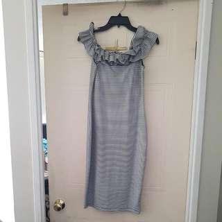 Zara Off Shoulder Fitted Dress