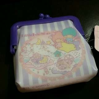 全新 Sanrio Little Twin Stars 散紙包一個 (銀幣 零錢包) Kiki Lala