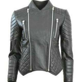 Elliott the Label Leather Biker Jacket Sz Xs