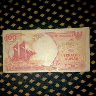 uang 100 rupiah cetakan 1992