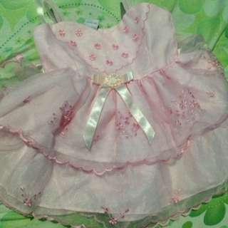 pink baptismal dress