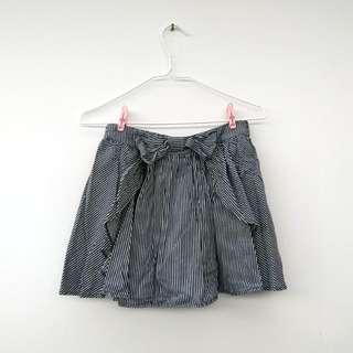 間條短裙 Striped miniskirt with elastic waistband
