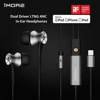 (In Stock) 1MORE E1004 Dual Driver LTNG ANC In-Ear Headphones