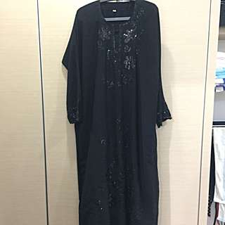 JUBAH/ABAYA WITH SEQUIN