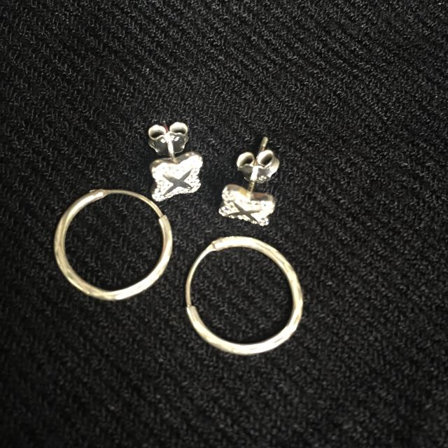925 Italy Silver Kids Earrings bundle