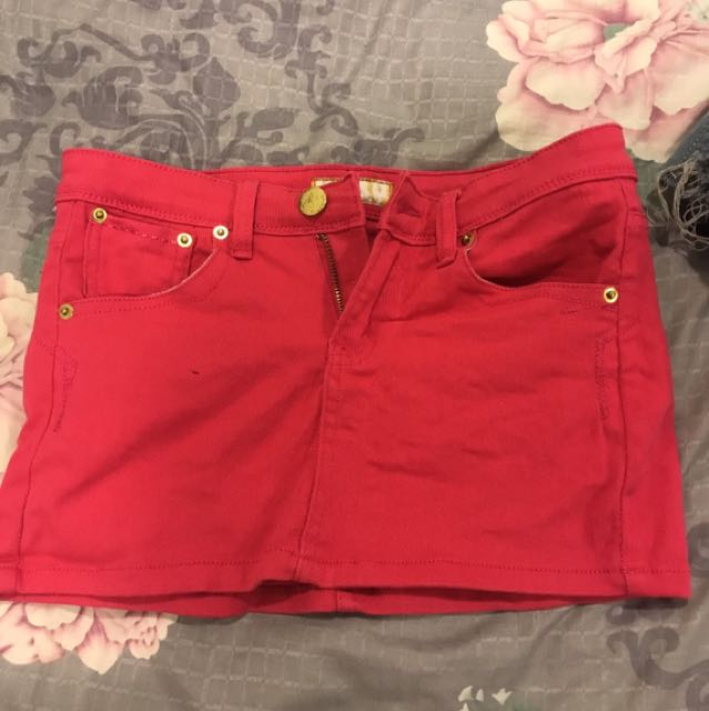 粉紅色短裙