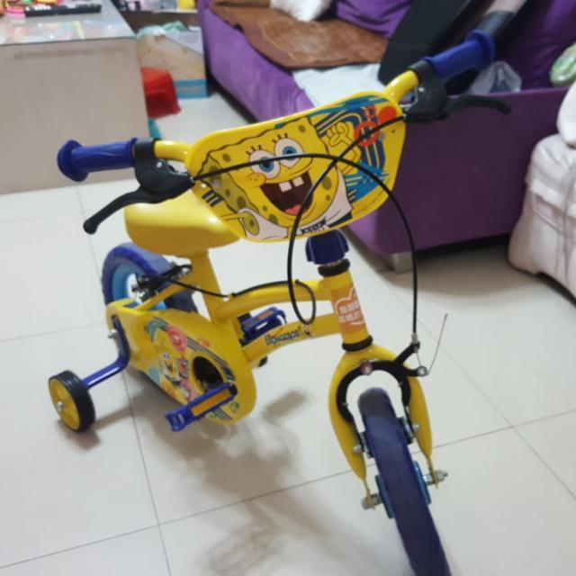 奶粉 贈送 海綿寶寶腳踏車12吋 高雄自取