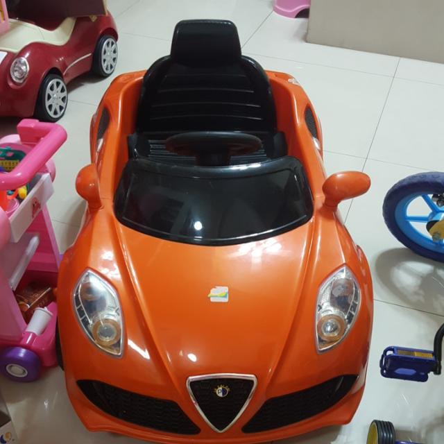 電動跑車 橘色款 低價出清 高雄自取 購買請看貼文