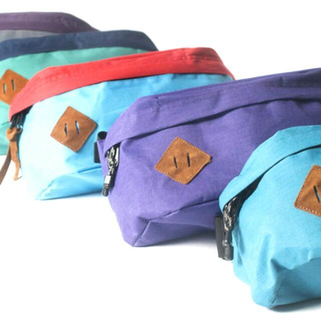 全新 SNEEZE -單色豬鼻側包-葡萄紫 滑板包 腰包