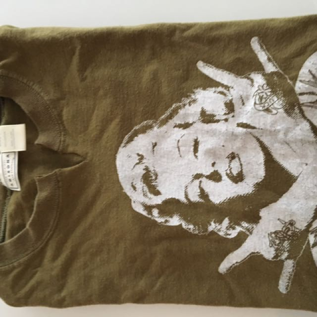 Army Green Marilyn Monroe Vintage T-shirt