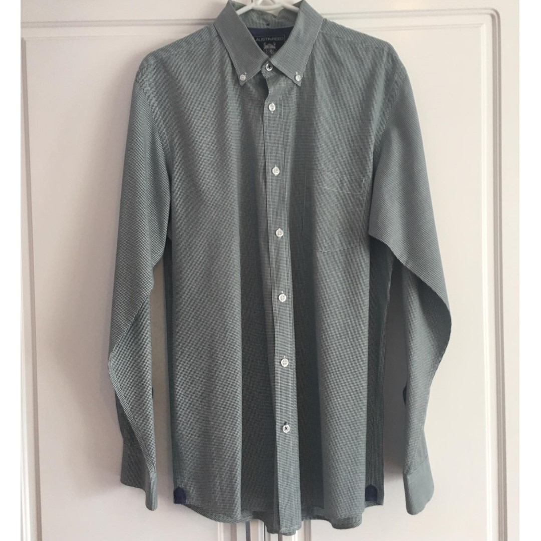 Austin Reed Men S Button Down Gingham Shirt Size Medium Men S Fashion Clothes Tops On Carousell