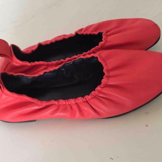 Authentic Celine Ballerina ballet Flats Size 38 Red