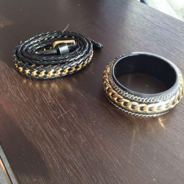 Belt And Bangle