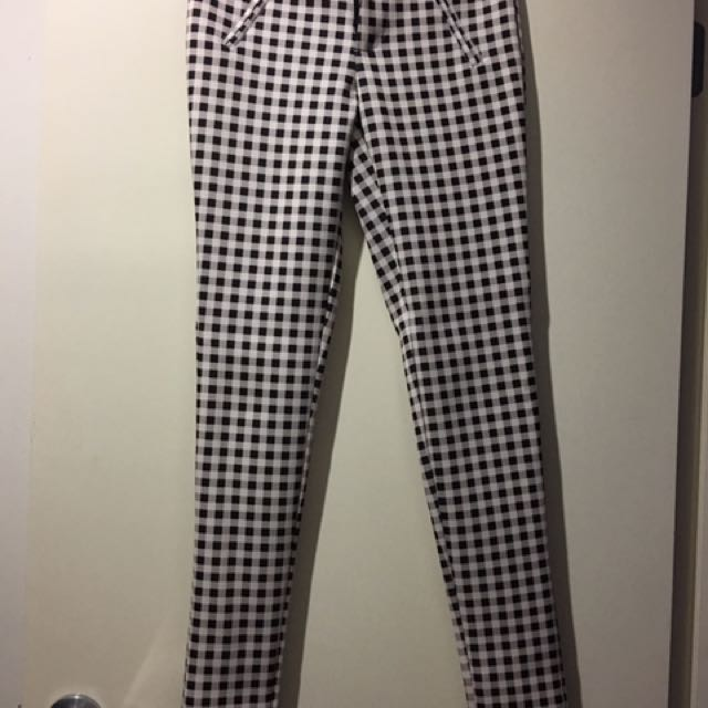 Black And White Check Pants
