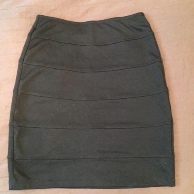 Black Cocktail Skirt