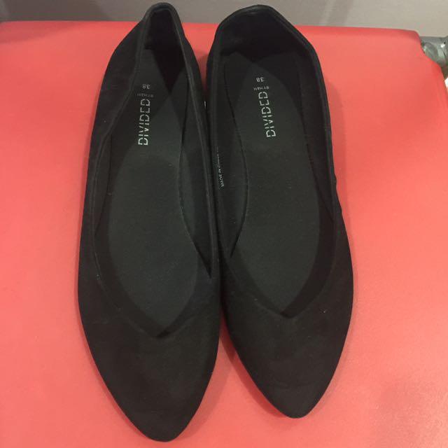 H&M Black flats Size 38