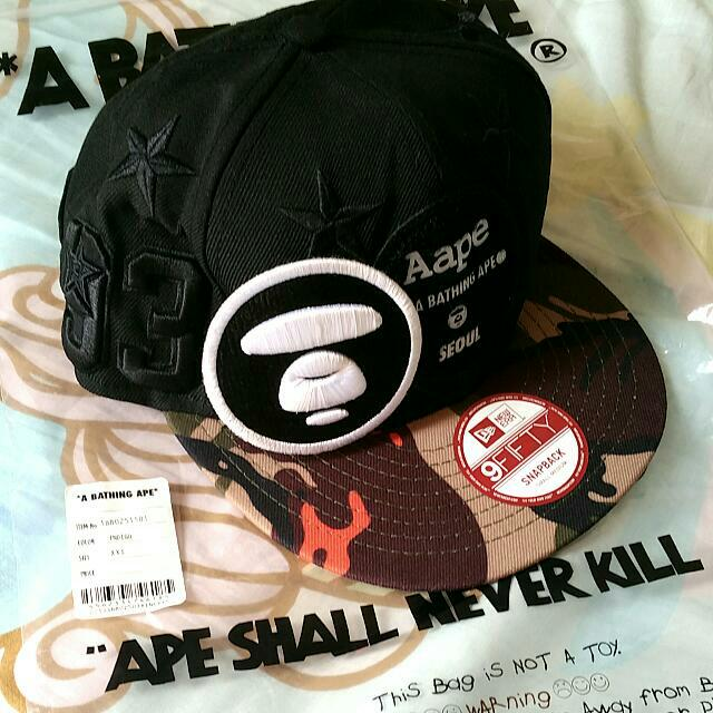 e77e1bd6db5 Brand New Aape A Bathing Ape x New Era 1st Camo Seoul Edition ...