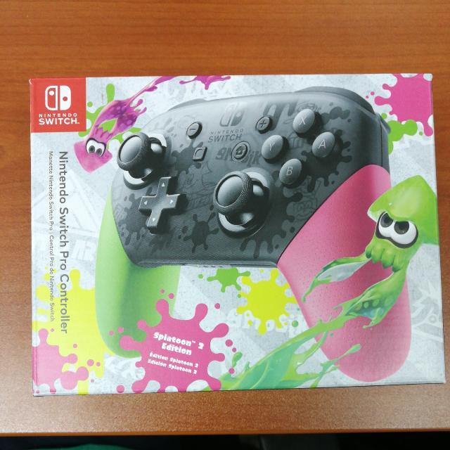 Brand New) Nintendo Switch Pro Controller - Splatoon 2