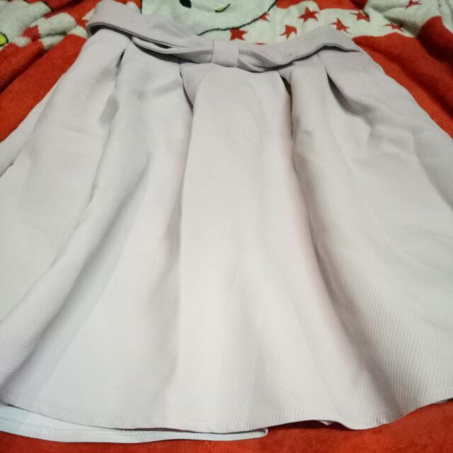 branded flowy skirt