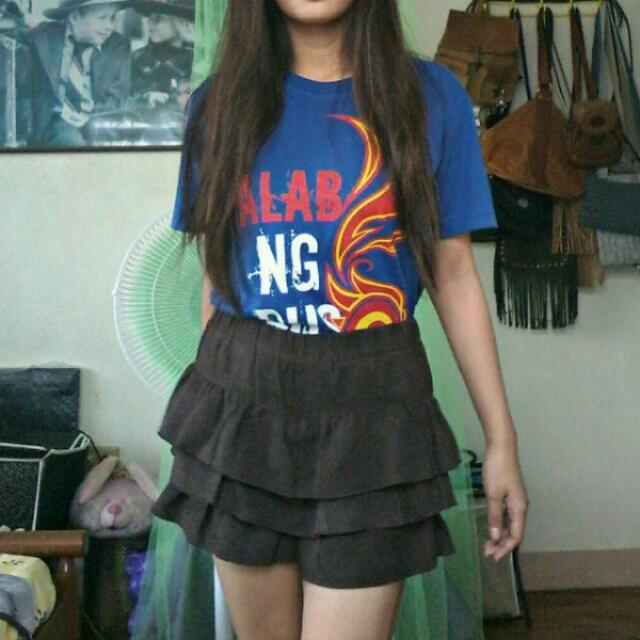 Brown suede skirt, New!