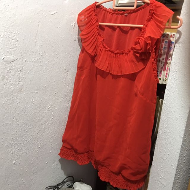 Chiffon Red Top