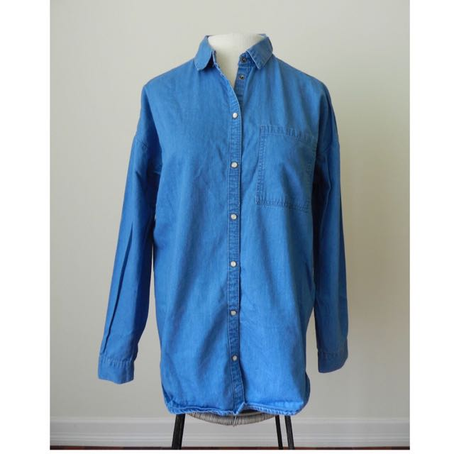 Denim Collared Shirt