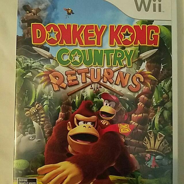 Donkey Kong County Returns Wii Game.