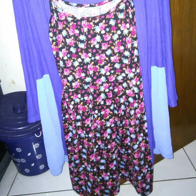 dress inner+cardigan