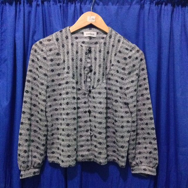 Eridan Black And White patterned Cardigan