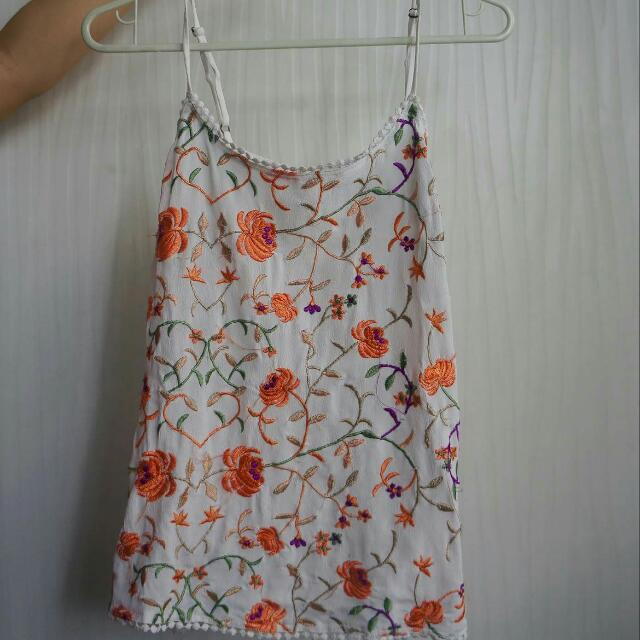 F21 Embroidered Top