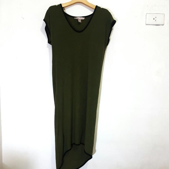 F21 Olive Tshirt Dress