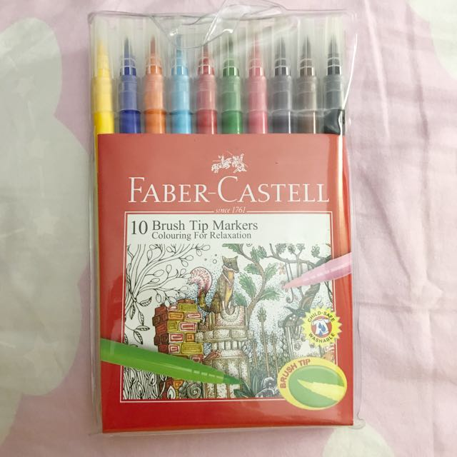 Faber Castell 10pcs Brush Tip Markers