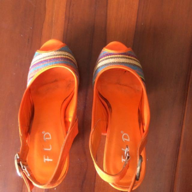 Fladeo Orange Heels