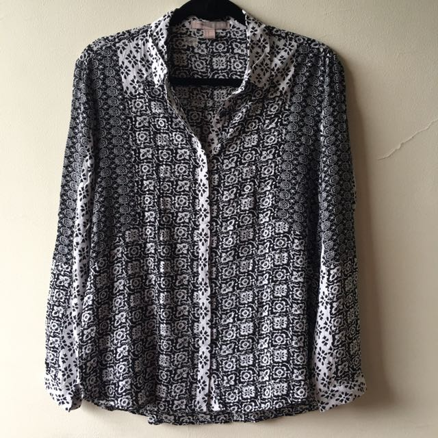 Forever21 Printed Button Down Top