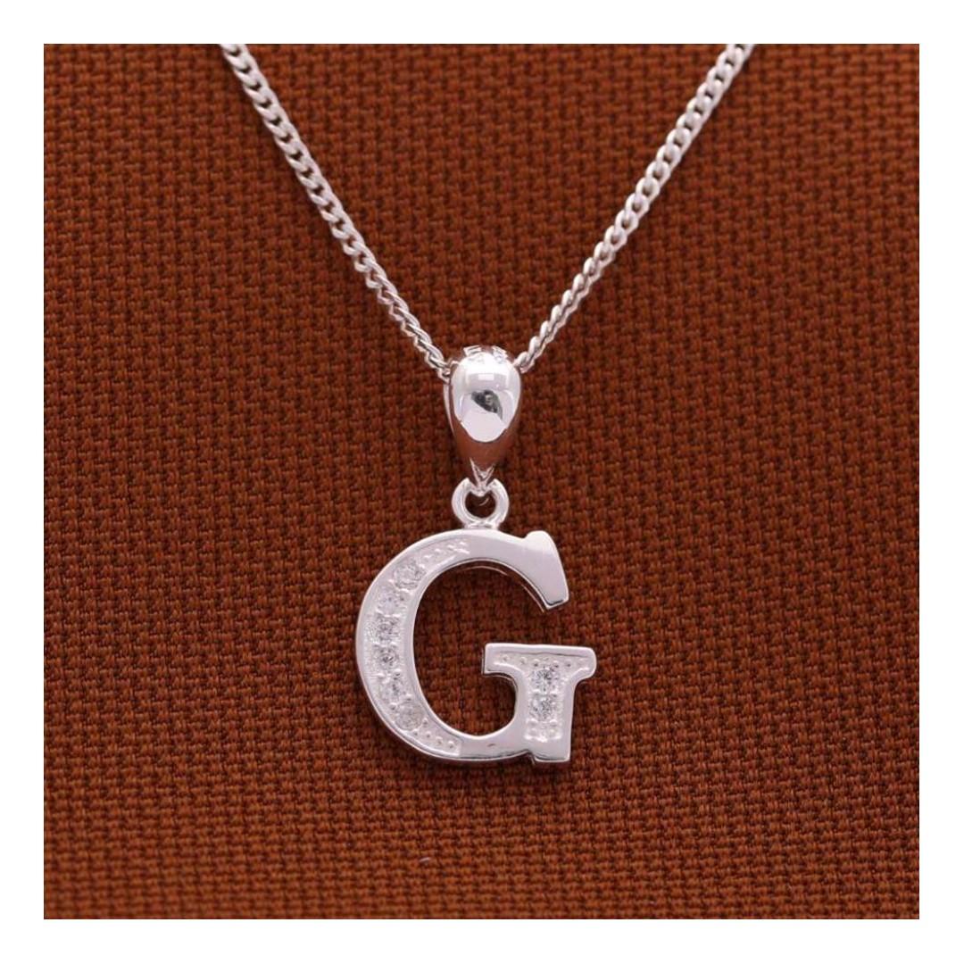 Genuine Italy Silver ( Alphabet Pendant)