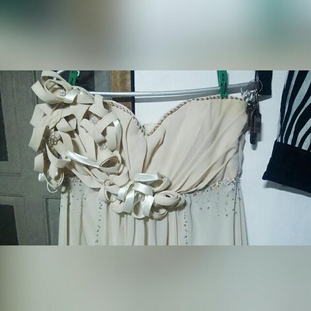 Grecian Cream White/Beige White Wedding Dress