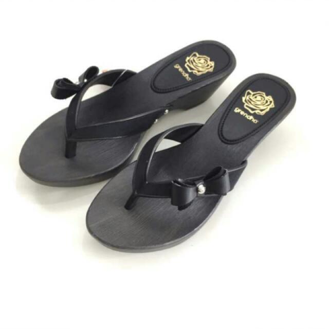 Grendha 全新 巴西防水蝴蝶結厚底仿木跟涼鞋 超顯瘦 33/34=35-36
