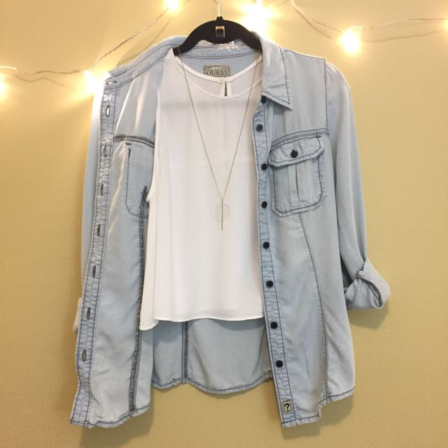 Guess Light Denim Blue Shirt