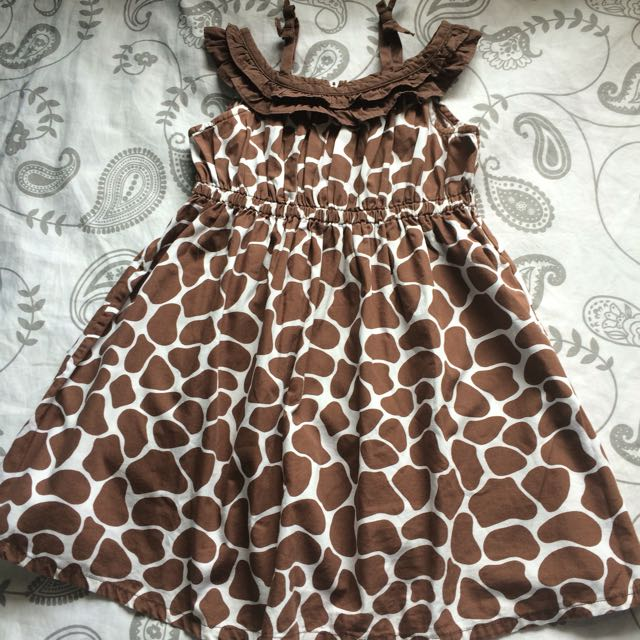 Gymboree Giraffe Print Dress 2-3T