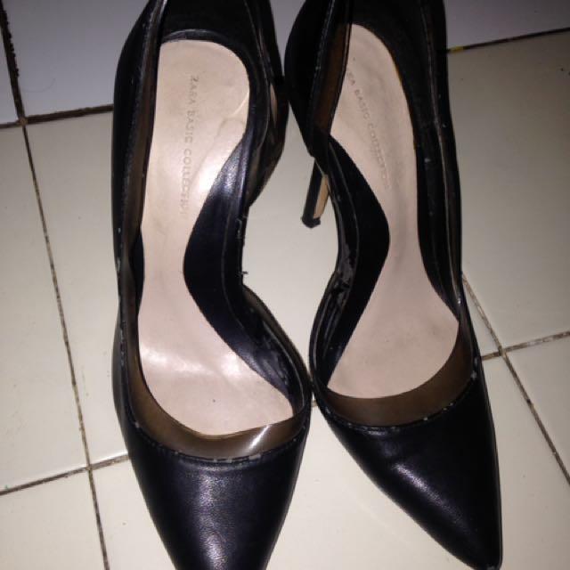 Heels Zara/ Sepatu Hitam