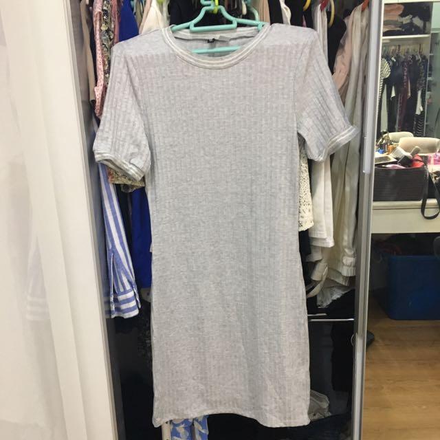 H&M BodyCon Gray Dress