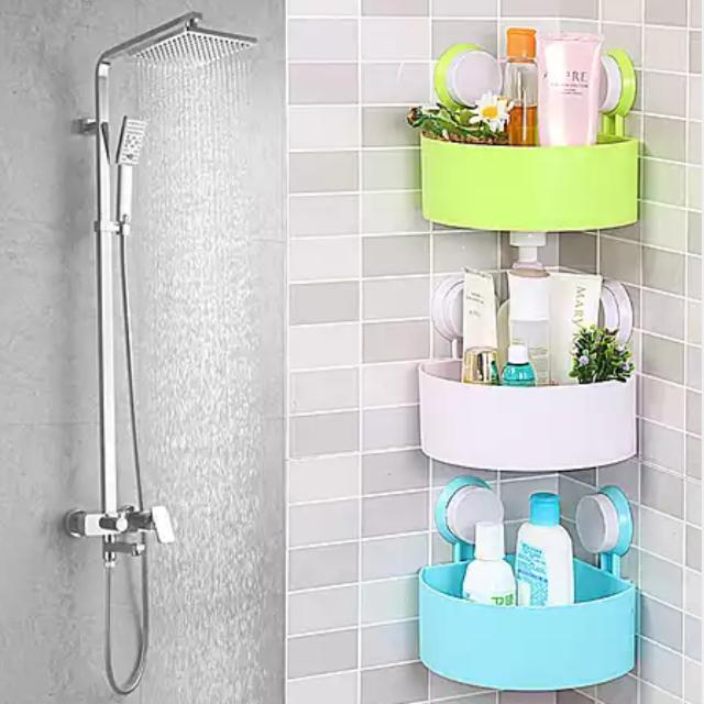 Charming Instock Wall Shelf / Corner Shelf / Bathroom Rack / Toiletries Holder ...