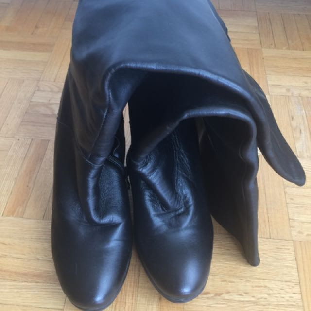 Italian Leather Boots - Size 8