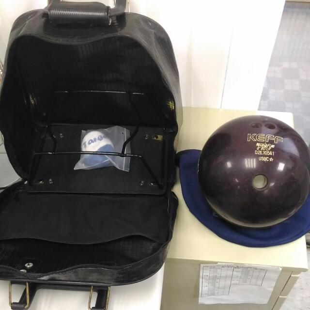 Keff保齡球+套++包+防滑球